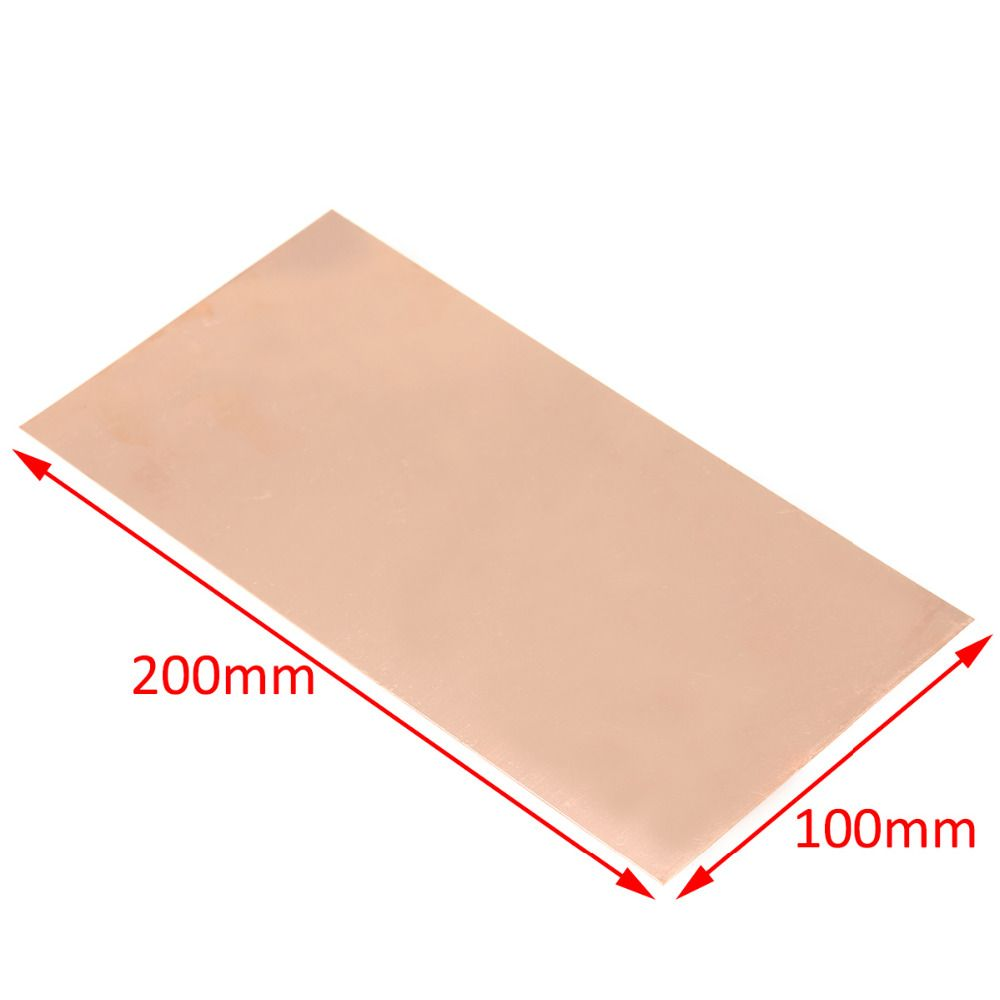 1pc New 99.9% Pure Copper Cu Metal Sheet Plate Foil Panel 100*200*0.5MM For Industry Supply