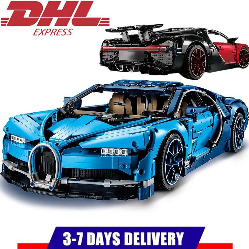 LEPIN Technic Creator MOC Blue Chiron Race Car Idea Building Blocks Sets Kits Bricks Classic Model Compatible Legoings 42083