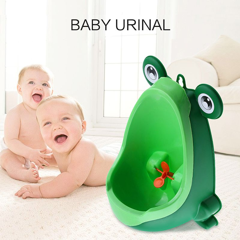 4 Color Baby Urinal Frog Shape Vertical Wall-Mounted Pee Convenient Cute Animal Boy's Potty Urinal Standing <font><b>Toilet</b></font> Boy Xmas Gift