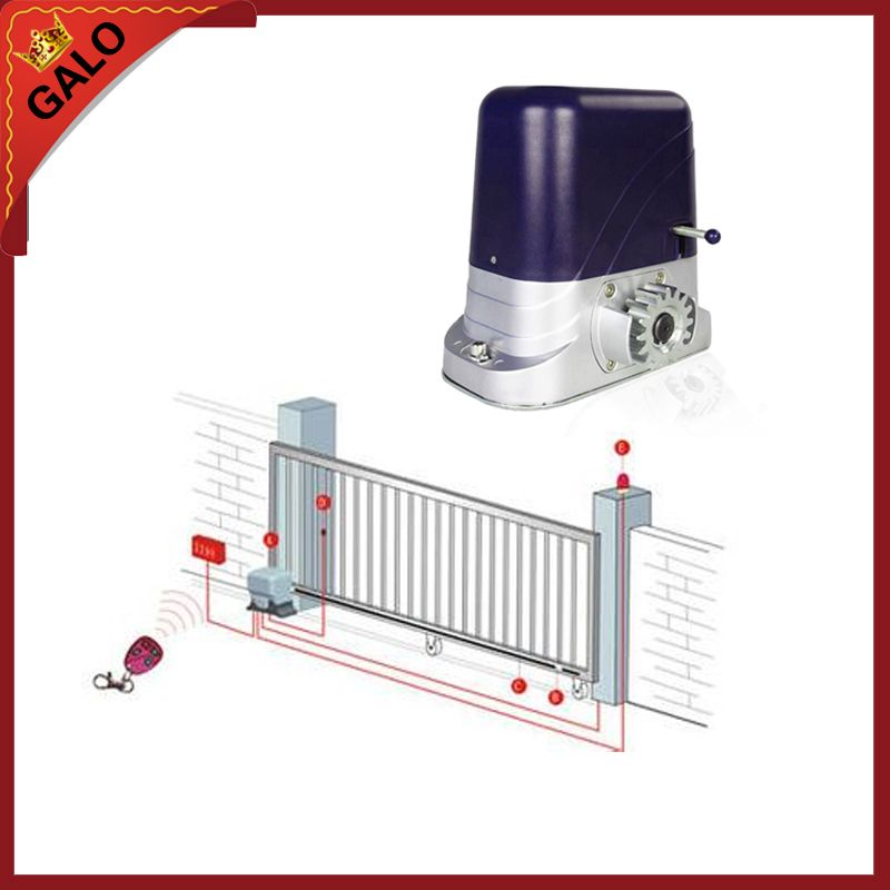 GALO sliding gate operator and sliding gate opener for home automation villa front door 500-1200kg motor have Antifreeze oil