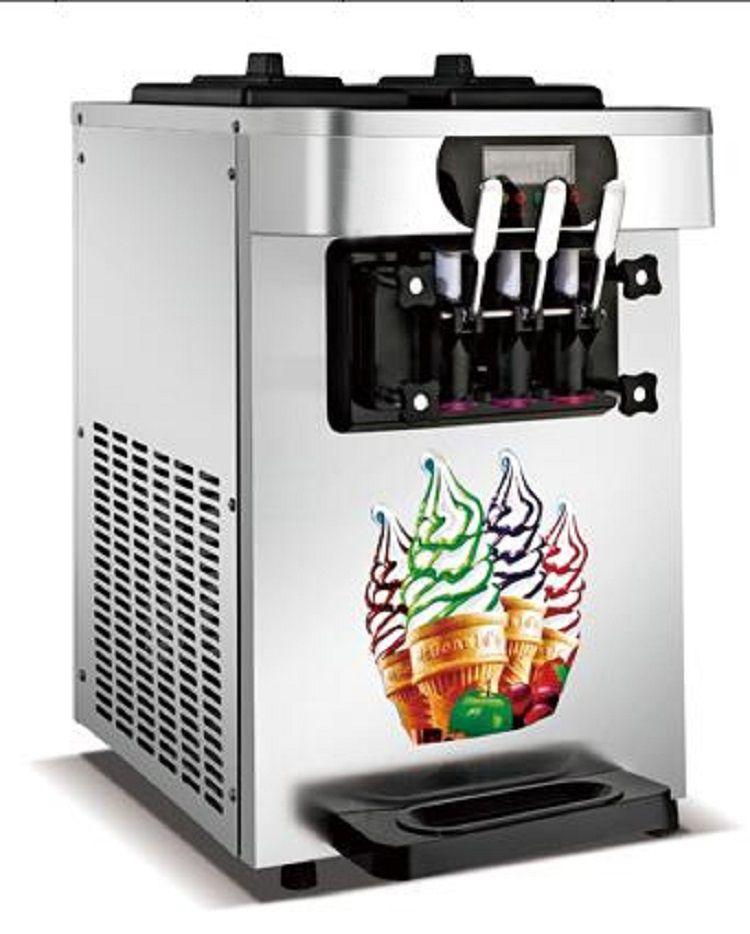 Heißer verkauf gelato tisch top mini softeis milchshake vending maschine 3 Aromen Eis Maker 18-22L/H mit kostenloser versand