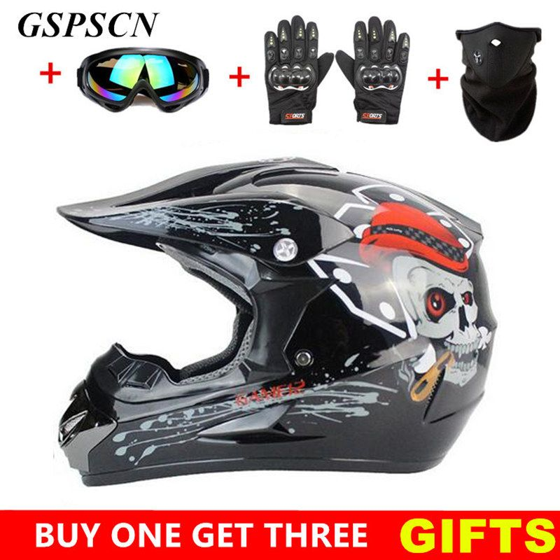 GSPSCN Motocross Helmet Off Road Professional ATV Cross Helmets MTB DH Racing Motorcycle Helmet Dirt Bike Capacete de Moto casco