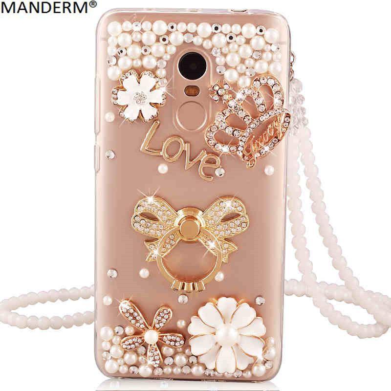 MANDERM case for Xiaomi redmi note 4x luxury diamond holder stand back cover for xiaomi redmi note 4x silicone phone cases