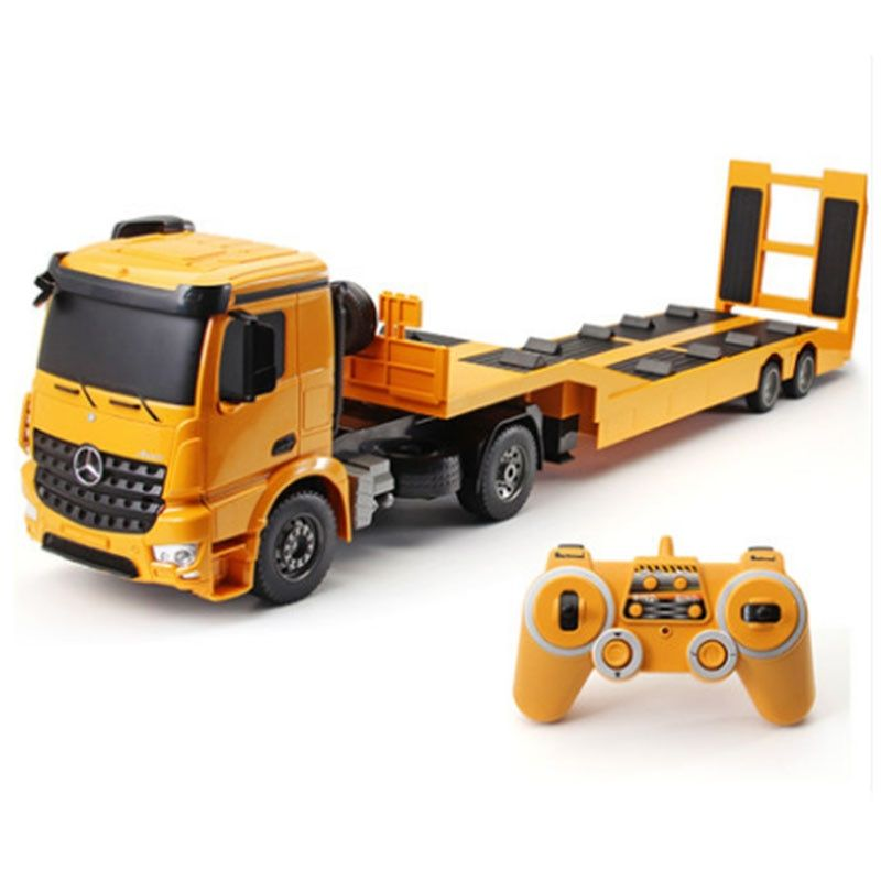 RC Truck Flatbed Semi-Trailer 1:20 2.4G Engineering Tractor Remote Control Construction Diecast Model Kids Electronics