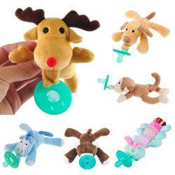 Lucu Bayi Mainan Dot Bayi Baru Lahir Bayi Anak-anak Anak-anak Gadis Kartun Boneka Puting Penenang Silikon Dot Menyusui Kotak Aksesoris