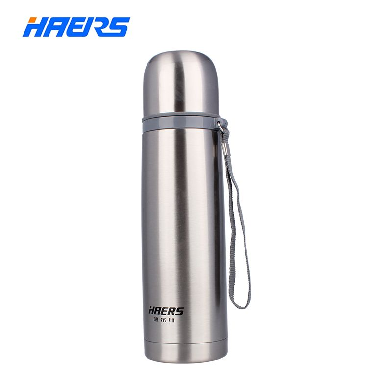 Haers 500ml Stainless Steel Thermos 12-24 Hours Double <font><b>Layer</b></font> Insulated Vacuum Water Bottle HB-500F