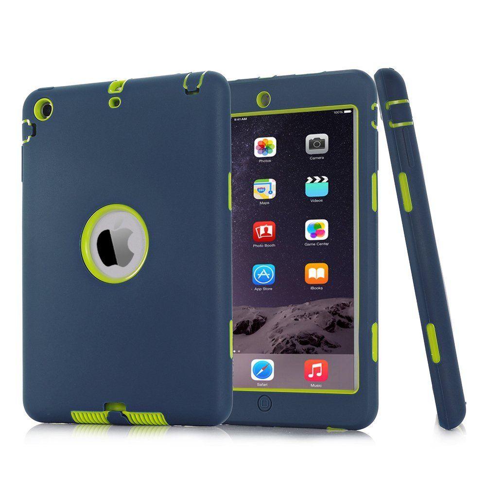 Für iPad mini 1/2/3 Retina Kinder Baby Safe Rüstung Stoßfest Heavy Duty Silikon Hard Case Screen Protector Film + Stylus Pen