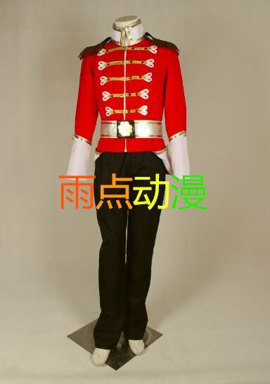 Halloween costume for men Barbie in the Nutcracker Prince Eric cosplay costume royal security guard uniform