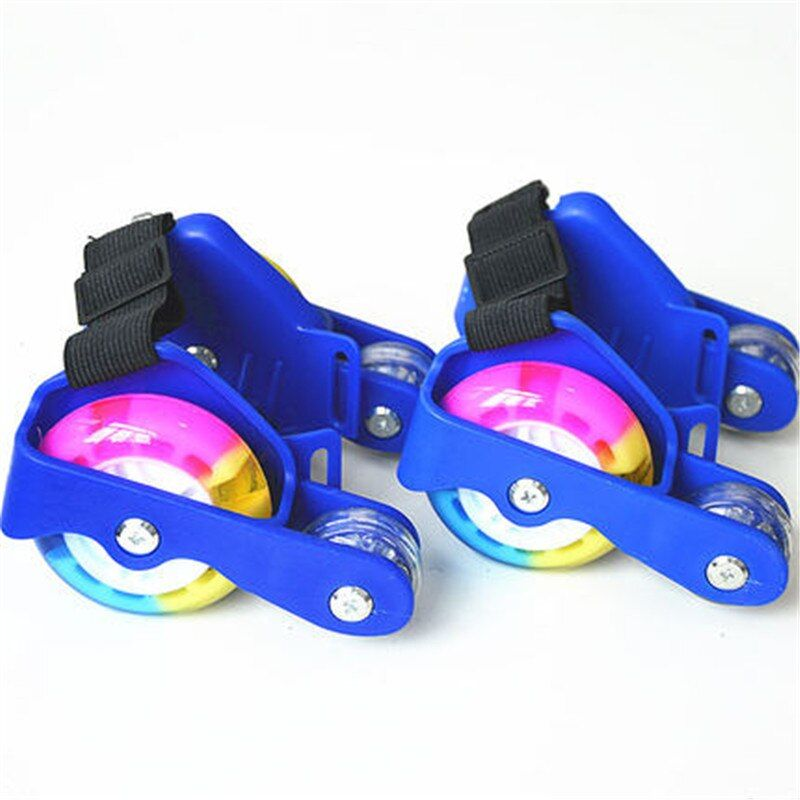 Adult Children LED Flashing Roller Skate Shoes With Hot Wheel Sports Heel Skates Rollers Shoes Inline Skating Good As Seba IA33