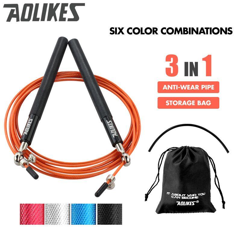 Crossfit vitesse corde à sauter corde à sauter professionnelle pour MMA boxe Fitness sauter entraînement d'entraînement avec sac de transport câble de rechange