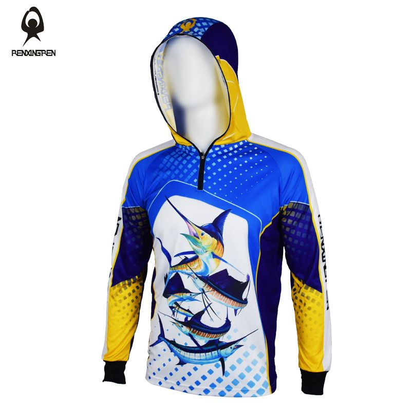 2018 New Hooded Fishing Clothing UV Protection Moisture Wicking Breathable Long Sleeve Fishing Shirt Camisas Pesca