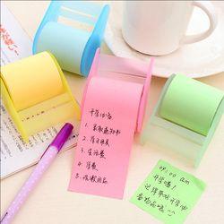 1 X Neon Kertas Stiker Memo Pad Lengket Catatan Kawaii Stationery Bahan Escolar Perlengkapan Sekolah