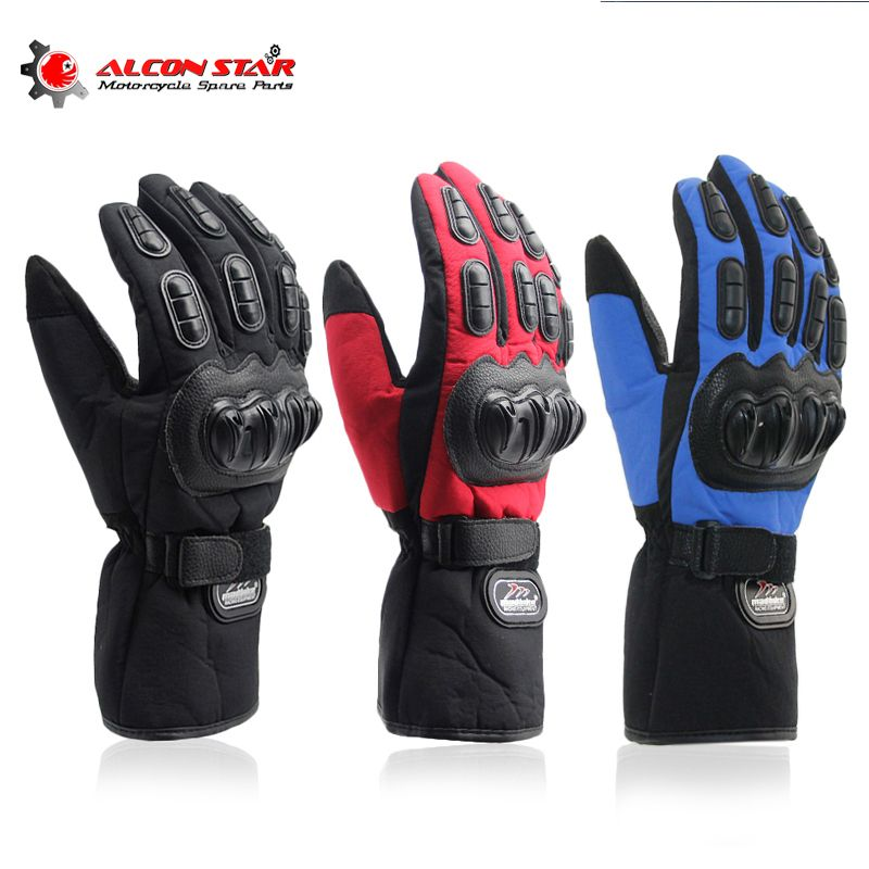 Alconstar- Motorcycle Gloves Winter Warm Windproof Protective 100% Waterproof Guantes Moto Luvas Motocross Cycling Racing Gloves
