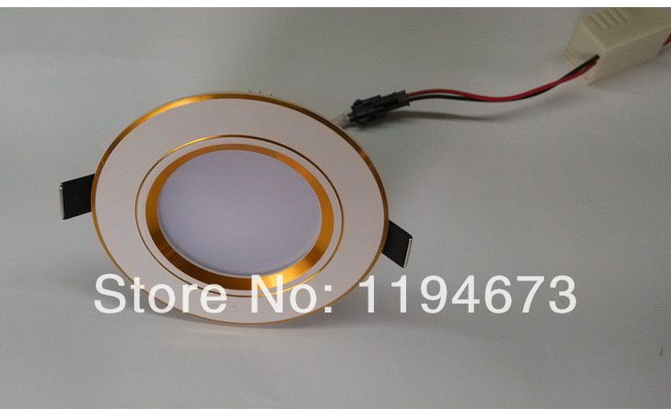 DHL Free Shipping Dimmable 6W Recessed LED Downlight, High Power LED 90~100lm/W, Warm White/Cold White, CE & RoHS Certified