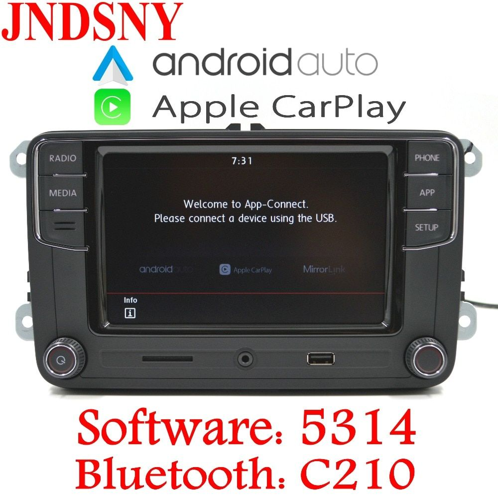 JNDSNY Android Auto CarPlay R340G RCD330 Noname RCD330G Plus Car Radio For VW Golf 5 6 Jetta CC Tiguan Passat Polo 6RD 035 187B