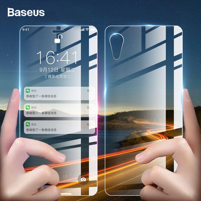 Baseus 0,3mm Vorne Zurück Glas Screen Protector Für iPhone XR Gehärtetem Glas Vorderseite Rückseite Schutz Glas Film Abdeckung Für iPhoneXr
