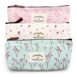 Fashion Women Cosmetic Bags Fresh Cute Canvas Multifunction Makeup Organizer Bag Lady Toiletry Travel Bags