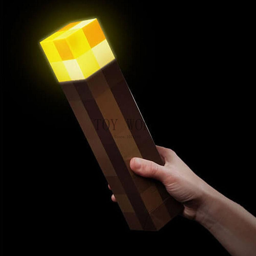 Original Light Up Minecraft Torch LED Minecraft Lamp Hand Held or Wall Mount Minecraft Light Night Wall Drop Shipping