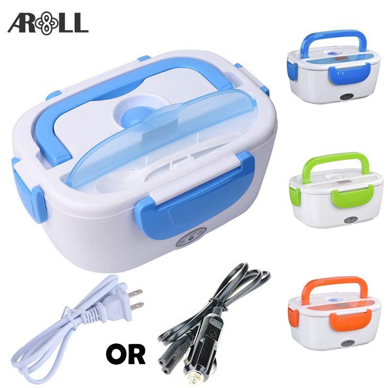 Boîte à Lunch électrique chauffée Portable pour voiture 12 V 110 V 220 V boîte à Lunch électrique US Plug conteneur pour garder le chauffage plus chaud des aliments