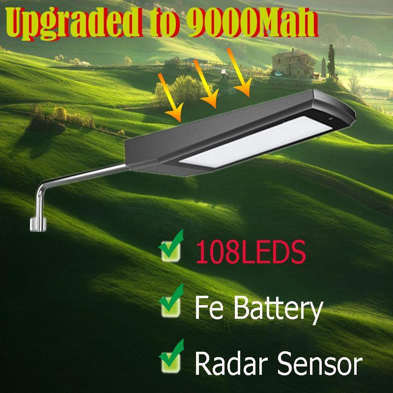 Long LED Solar light Perfect quality LED Solar Outdoor lighting Good convertion solar panel High bright led solar street light