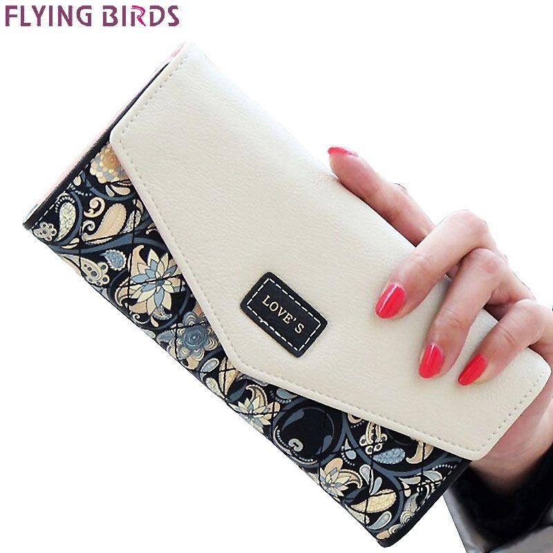 FLYING BIRDS portefeuille pour femmes portefeuilles marques bourse dollar prix impression sacs à main designer titulaire de la carte coin sac femelle LM4163fb