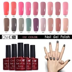 CNHIDS 132 Warna Cat Kuku tahan lama Rendam Off Gel Polish UV & LED Lampu Nail Varnish DIY Gel Nail Varnish Manicure Art alat