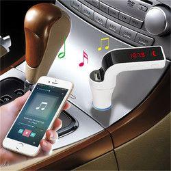 Bluetooth inalámbrico coche MP3 reproductor G7 pantalla LCD receptor de música transmisor FM Radio soporte USB TF tarjeta Mic Handfree