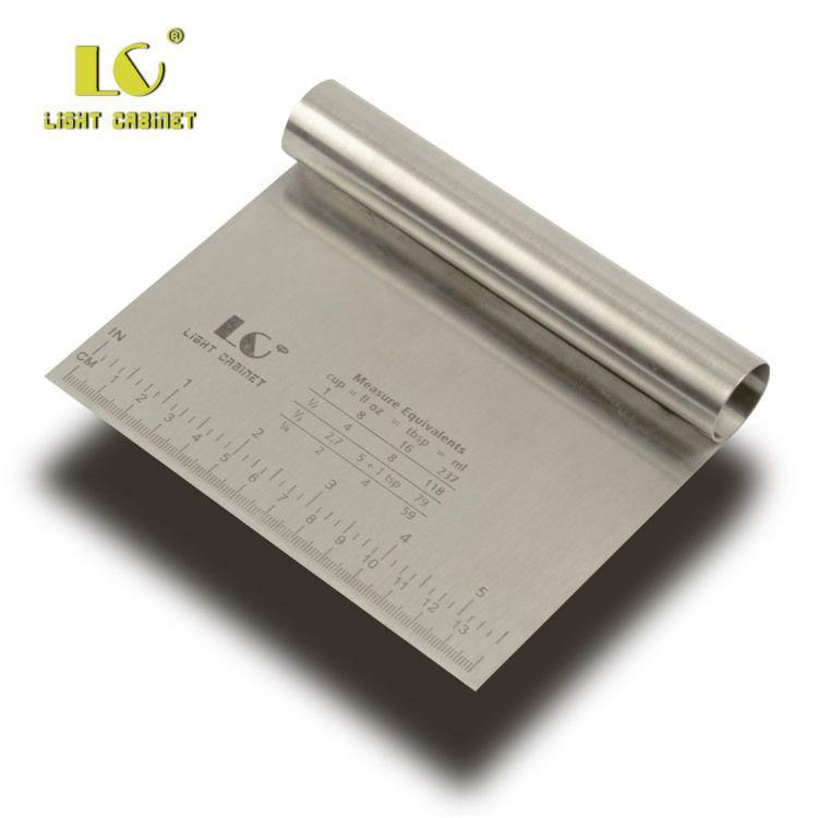 BEEMSK 1 stücke Edelstahl Metall Slicer Schaben Panel Teig Schneiden Werkzeug Pulver Tisch Ritzen Skala