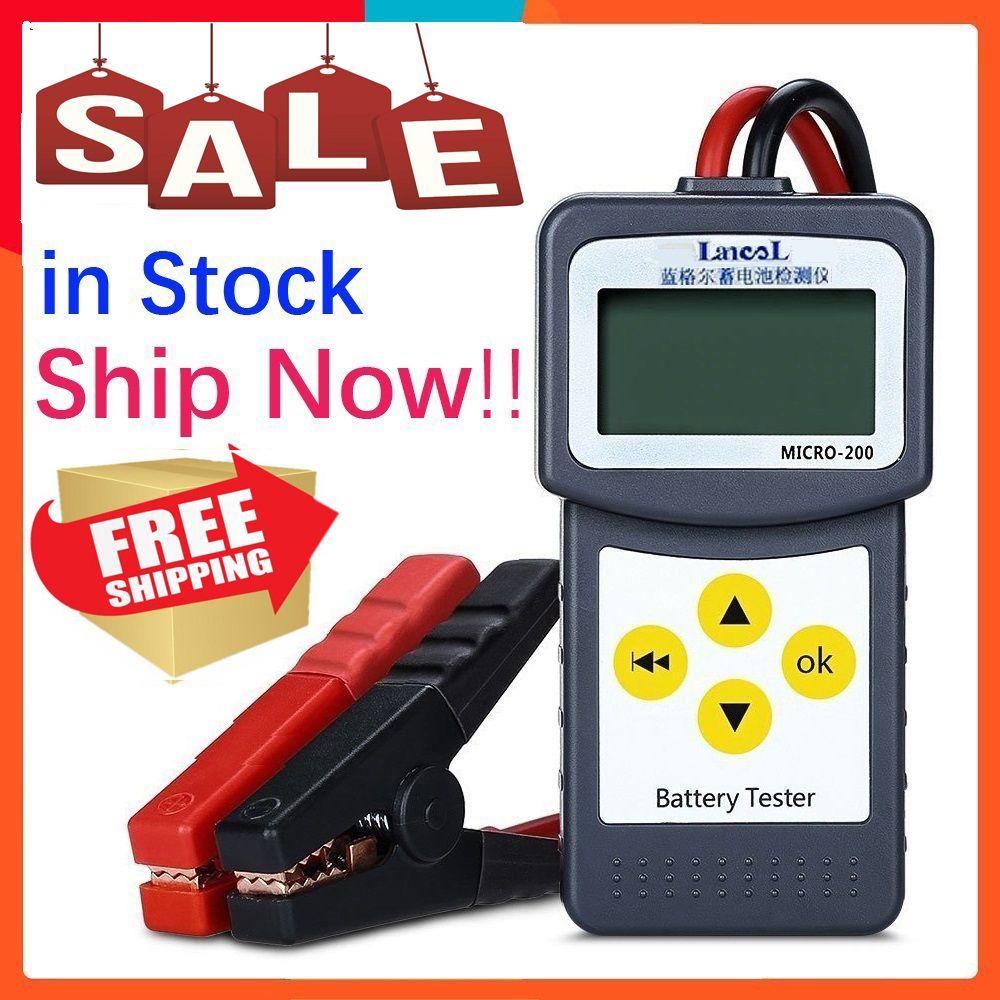 Original LANCOL Micro-200 12V Auto Batterie Tester SAE CCA Diagnose Werkzeug Digitalen Batterie Analyzer