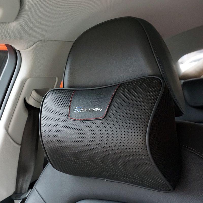 Genuine Leather RDESIGN Car Headrest Neck Support R DESIGN for volvo Xc60 S60l S60 S80 V40 V60 XC90 S40 S80 V70 V50 850 C30 S70
