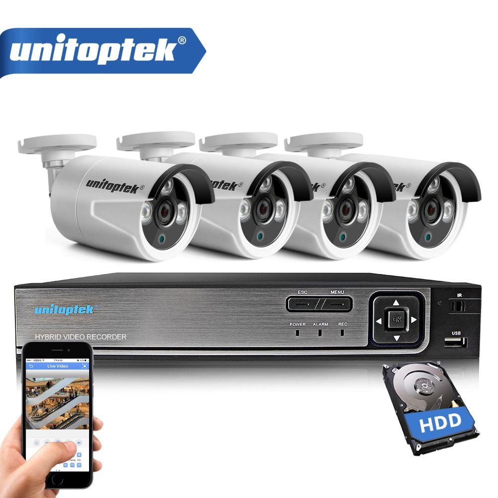 4CH HD 1080N Video DVR Recorder CCTV Camera System Kit With 4Pcs 1200TVL 720P AHD Bullet Camera Outdoor Video Surveillance Set