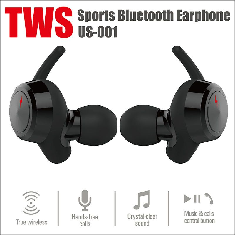 US001 Mini Wireless Bluetooth 4.2 Earplug Binaural Stereo Earbuds Headset For TWS Support HFP/HSP and AVRCP