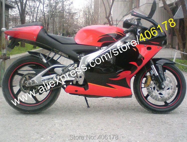 Heiße Verkäufe, für Aprilia RS 125 Verkleidung 2001 2002 2003 2004 2005 RS125 01 02 03 04 05 Schwarz Lionhead in rot sportsbike Verkleidung Kit
