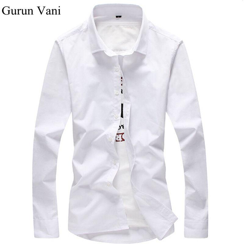 2017 Men Shirt Long Sleeve Slim Fit Solid Mens Dress Shirts Formal Shirts Designs Camisa Social Masculina Men Business Shirt