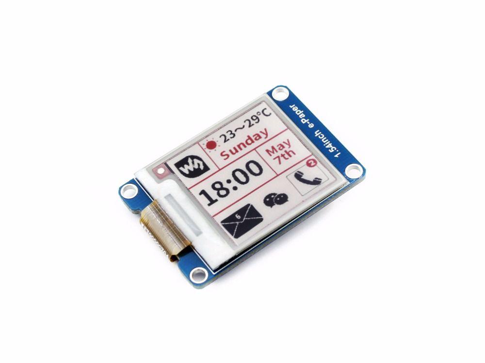 200x200, 1.54 pouces E-ink affichage module, trois couleurs Pas rétro-éclairage Ultra faible consommation d'énergie SPI Compatible avec variou conseils
