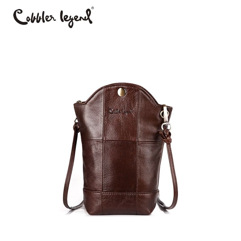 Cobbler Legend Irregular Small Bucket Bag Phone Handbag For Women Genuine Leather Bag Female Mini Messenger Crossbody Bag Buy