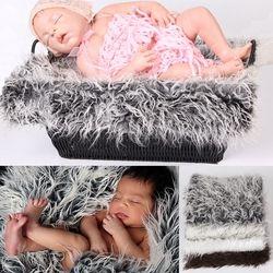 Fotografi Newborn Fotografi Latar Belakang Baru Lahir Selimut Keranjang Stuffer-B116