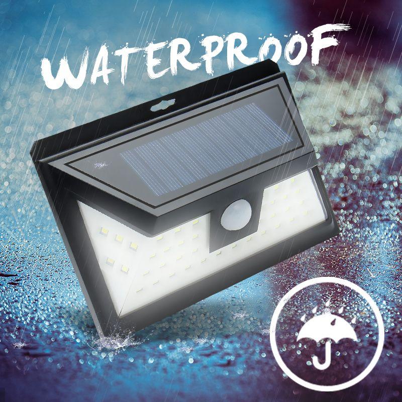 44 LED Solar Light Outdoor Waterproof Garden PIR Motion Sensor Solar Power LED Wall Light Emergency Solar <font><b>Lamp</b></font> Pathway Decor