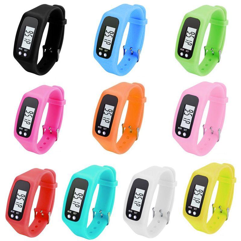 Digitale LCD Schrittzähler Run Schritt Walking Distance Calorie Zähler Sportuhr Armband B2Cshop