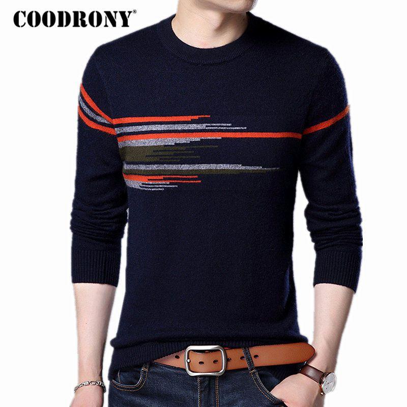 COODRONY Pullover Männer 2017 Neue Mode-Muster O-ansatz Pull Homme Winter Dicke Warme Wolle Pullover Nerz Kaschmir Pullover Männlichen 7315
