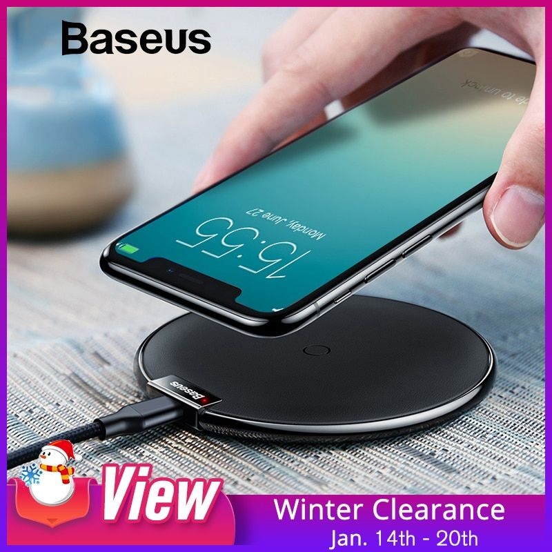 Baseus Leather Wireless Charger For iPhone X/XS Max XR Samsung S9 S9+ Note 9 8 Fast wireless charger QI Wireless Charging Pad