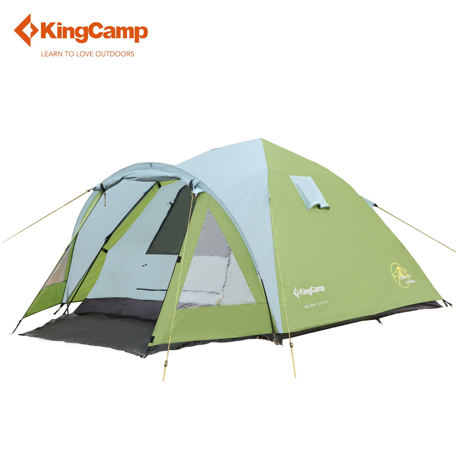KingCamp One Room and One Hall Outdoor Tent 2-3 Person 3-Season Double-layers Waterproof Windproof Camping Party Family Tents
