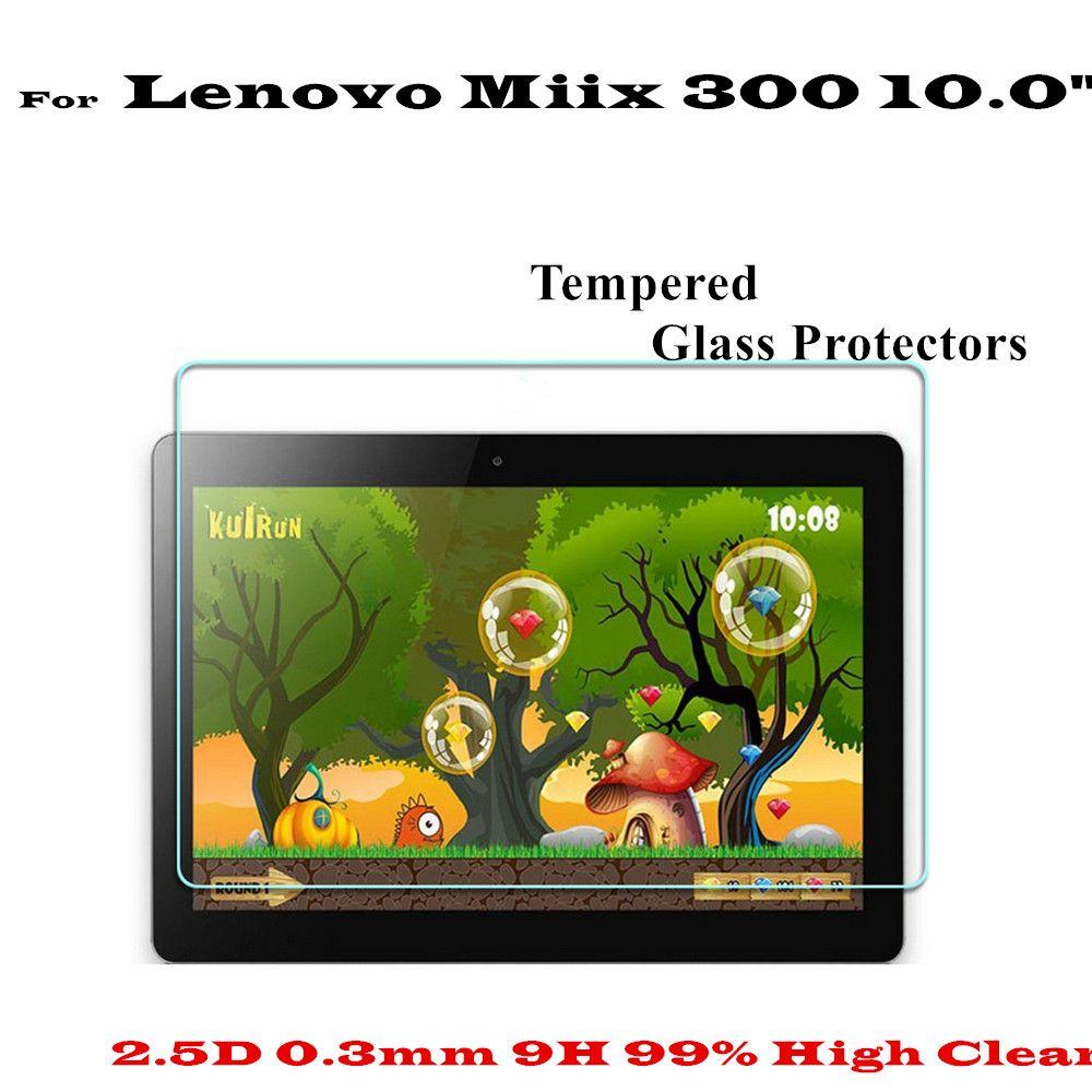 10.0 pouce Haute Clair Anti scratch-résistant Miix 300 Verre Écran protecteurs Pour Lenovo Miix 300 écran en verre trempé protecteur