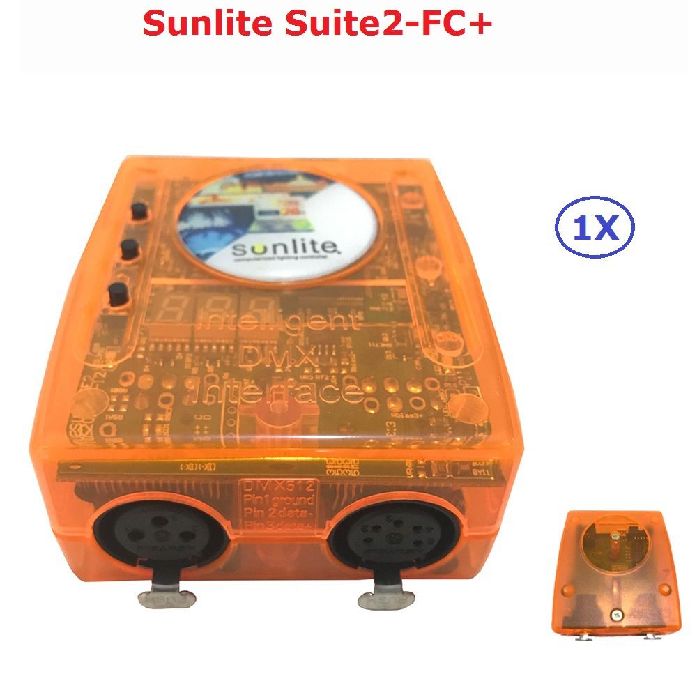 Classic Virtual Dj Disco Controller USB DMX Interface Dj Controller Sunlite Suite2-FC+ Computer Controller Easy To Operate