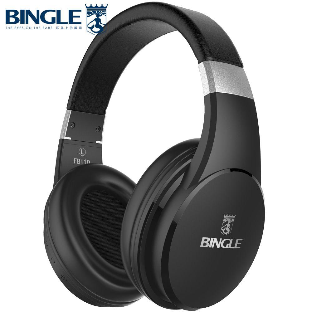 Bingle FB110 Noise Canceling Over Ear Wired Wireless Bluetooth Earphone Headphone Cordless Headsets BT Head Phone Fone de ouvido