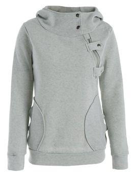 Nextmia бренд на молнии карманов пуловер с длинными рукавами Для женщин зимние толстовки с капюшоном