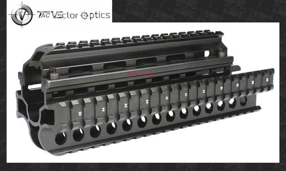 Vektoroptik Tactical SAIGA 7,62x39 Handguard Vierer Picatinny Schiene Jagd Gun Mount System Full Metal Neue Schwarz