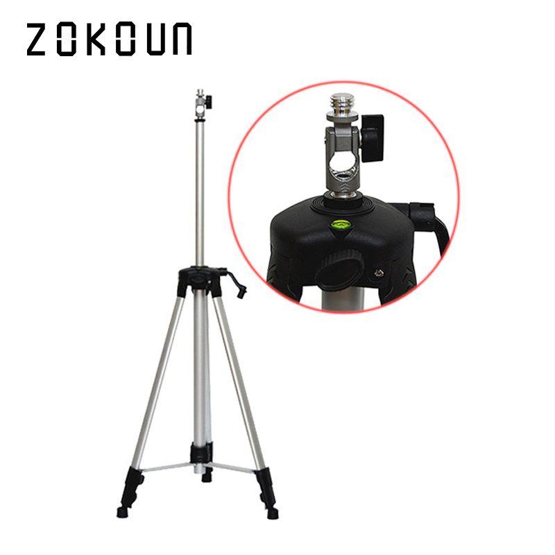 ZOKOUn 750g poids 1.5m hauteur maximale 5/8 fil enduit en aluminium de haute qualité support ou trépied pour 360 laser rotatif