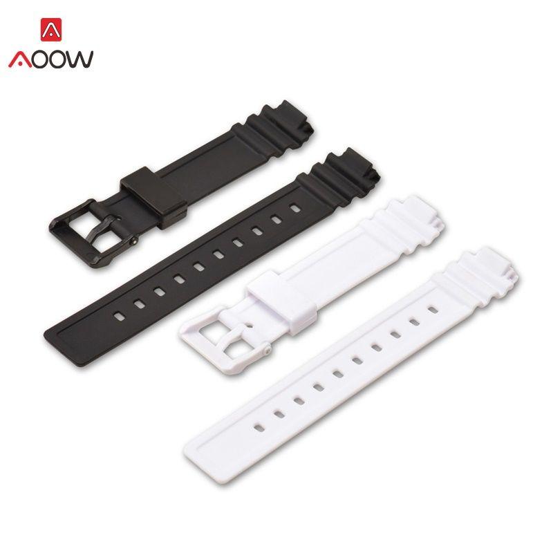 AOOW 14mm Tauchen Sport Armband für Casio LRW-200H Gummi Ersatz Uhr Smart Armband Armband Zubehör für Frauen