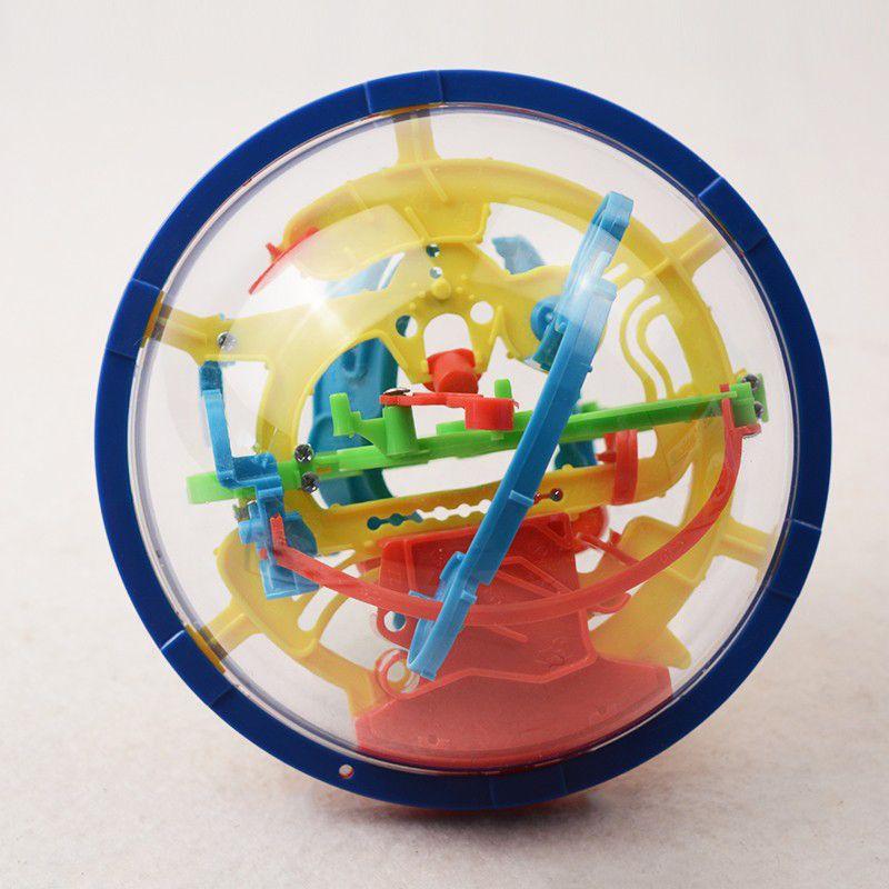 Boule de labyrinthe magique 3D 100 niveaux Intellect balle roulante jeu de Puzzle jeu de casse-tête enfants apprenant des jouets éducatifs jeu d'orbite